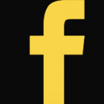 Yellow Facebook icon