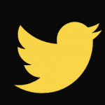 Yellow Twitter icon